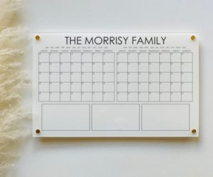 Personalized Acrylic Calendar For Wall