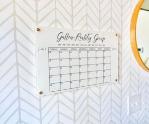 Personalized Dry Erase Calendar Board For Wall
