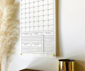 Personalized White Acrylic Calendar For Wall