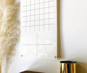 White Acrylic Calendar For Wall