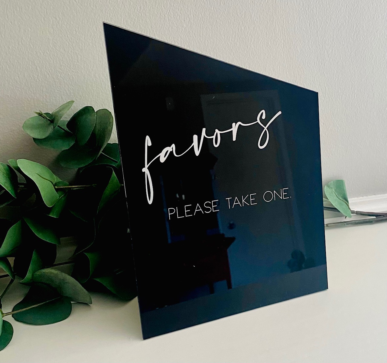 Favors Table Sign