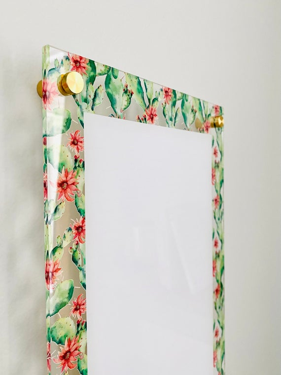 Acrylic Cactus Notes Board For Wall