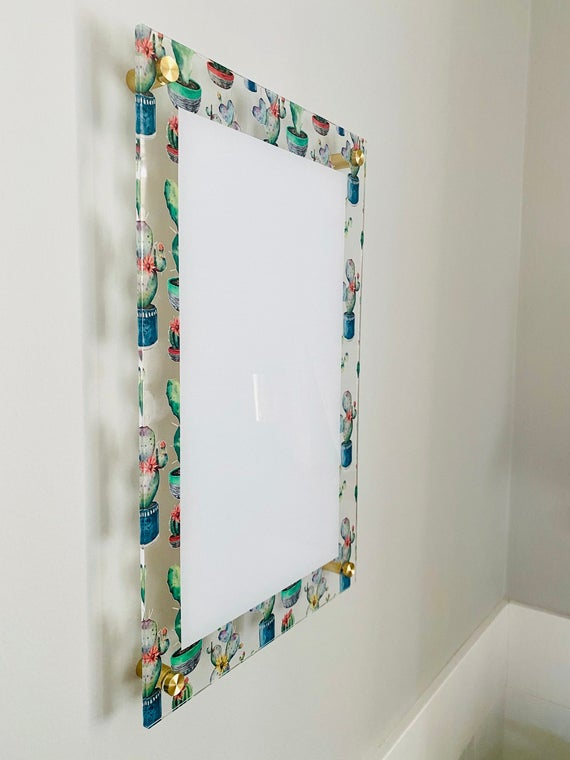 Acrylic Cactus Blank Notes Board For Wall