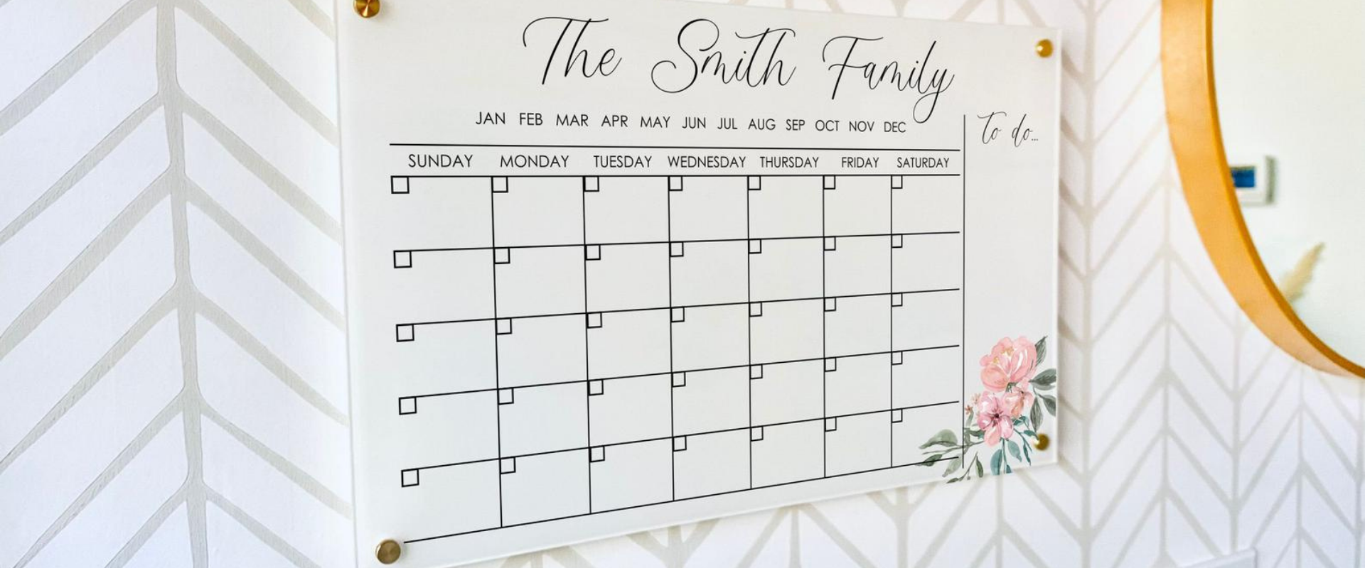 Personalizing our Acrylic Monthly Calendar Made Managing Our Family Easy
