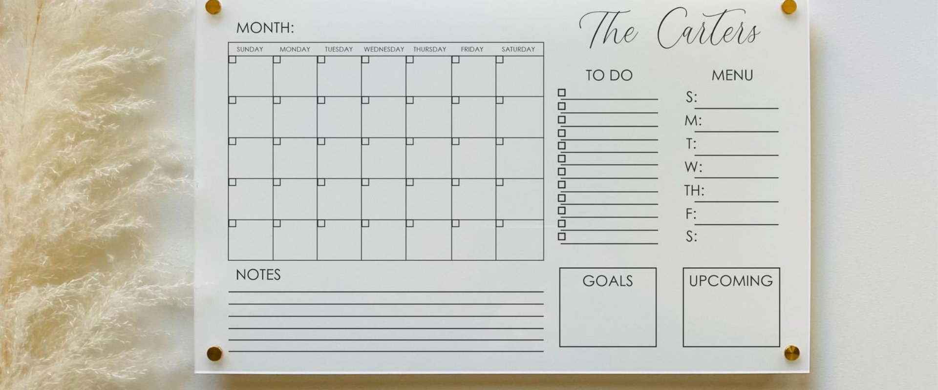 Find Inspiration to Stay Organized with our Personalized Acrylic Wall Calendar