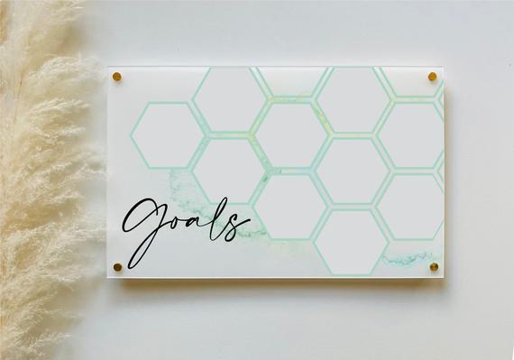 Acrylic Goal Tracker Board For Wall