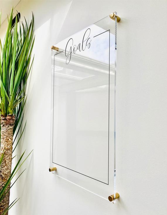 Acrylic Goals Board For Wall