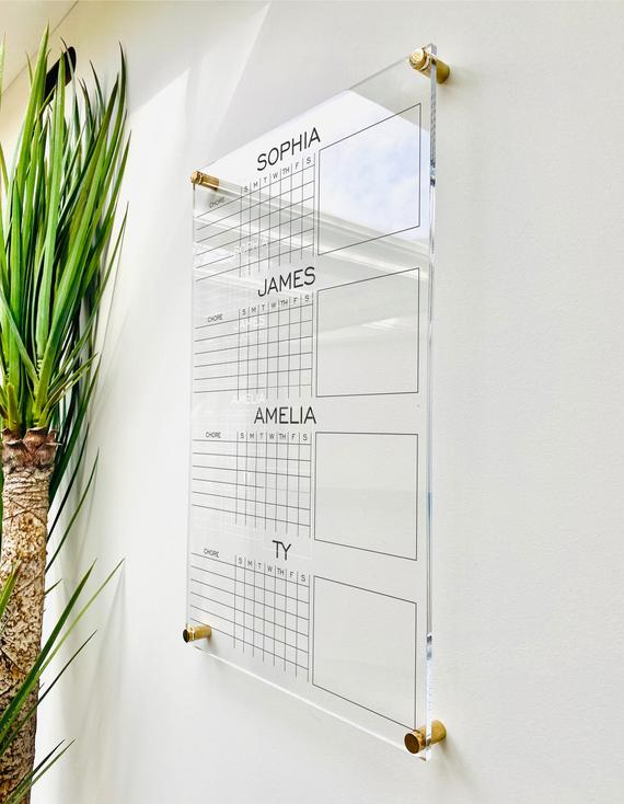 Personalized Chore Chart For 4 Kids