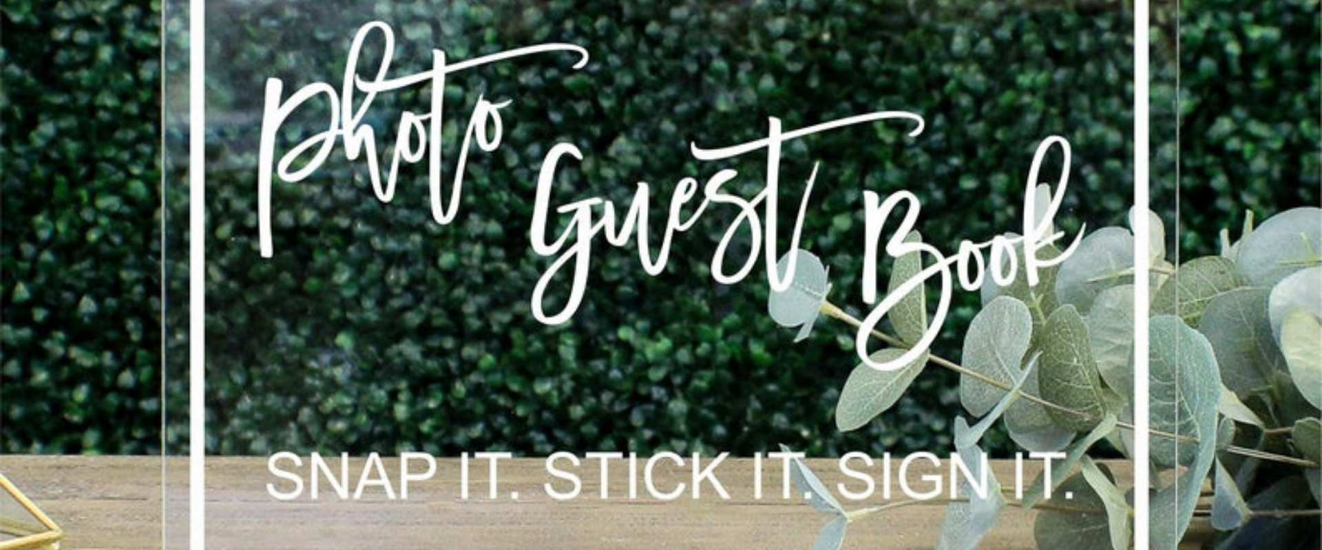 Photo Guest Book Table Sign